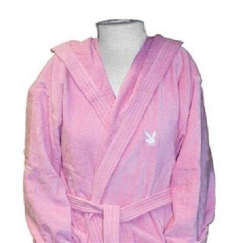playboy-albornoz-rosa-capucha-100-algodon-rosa-pequeno