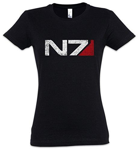 N7 Normandy Logo Damen Girlie T-Shirt - Commander Shephard Mass Cerberus PC Game Effect Video Größen XS - 2XL Dame Commander