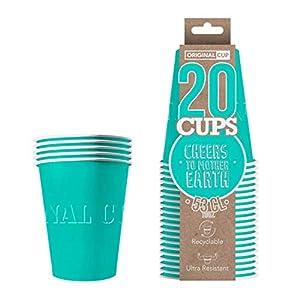 Original Cup - 20 x Vasos Américanos Papels Beer Pong 53cl - Juego para Beber - Turquesa