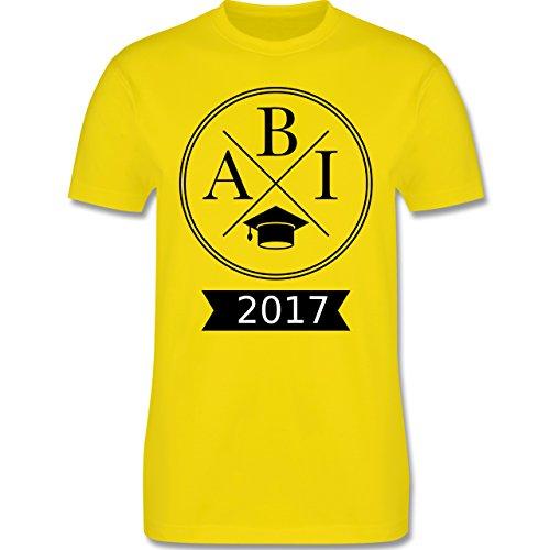 Abi & Abschluss - Abi 2017 Hipster X - Herren Premium T-Shirt Lemon Gelb