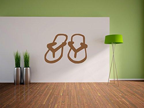 Flip Flop sandali decalcomanie della parete, murale, autoadesivi della parete, autoadesivi della parete decorazione per soggiorno, camera da letto e la dimensione dei bambini: 1200x830mm