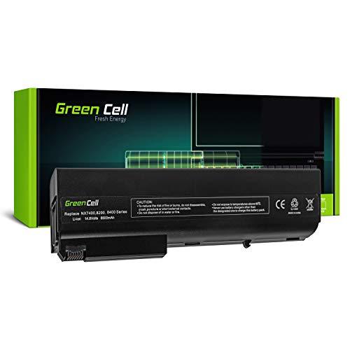 Green Cell Extended Serie Laptop Akku für HP Compaq 8510p 8510w 8710p 8710w nc8200 nc8220 nc8230 nc8430 nw9440 nw8240 nw8440 nx7300 nx7400 nx8220 nx9420 (12 Zellen 6600mAh 14.4V Schwarz) - 12 Zellen Notebook-akku