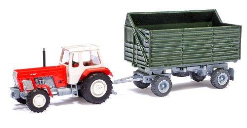 Busch Voitures - BUV95002 - Modélisme Ferroviaire - Tracteur ZT303 avec Remorque HW 80 SHA