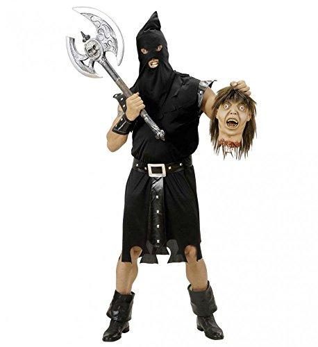 Herren-Kostüm HENKER SCHWARZ, Größe:L