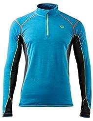 Ternua Hombre Camiseta Noshaq 1/2 Cremallera Parte Superior Camiseta / 1205351-5480 Hombre Outdoorshirt - XL