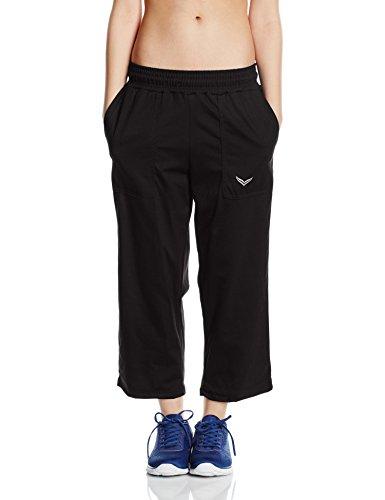 Trigema Damen 3/4 Freizeithose, Pantalon de Sport Femme Schwarz (Schwarz 008)