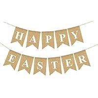 DescrizioneSiete alla ricerca di distintivo decorazione per Pasqua?Questo set di festival Banner è una grande scelta per voi. e 'Appositamente progettato con le parole Happy easter, che simboleggia buona fortuna e felicità.Con il seguente ab...
