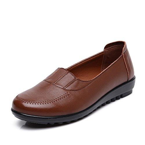 Maman et chaussures de fond mou/Plat moyen et vieux ans chaussures femme/Plus de chaussures de la taille des personnes âgées C