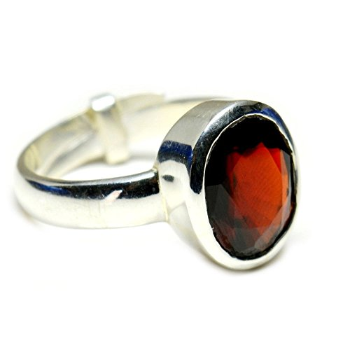 Jewelryonclick 5?Karat Natur Hessonit Granat Sterling Silber Verstellbar f?r Frauen Ring Gr??e UK P???T 1/2-61 (19.4) (Hessonite Granat Ring)
