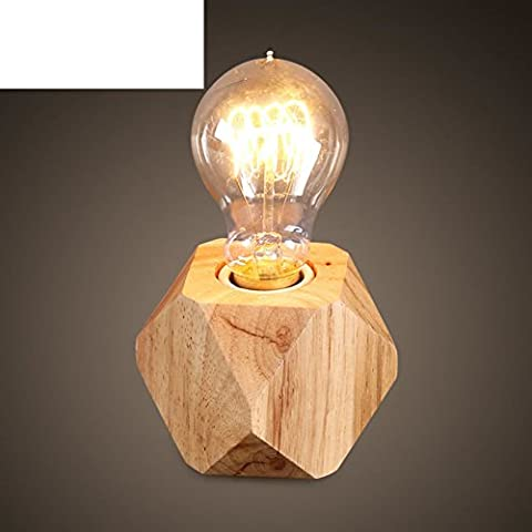 Simple log art lamps/Bedroom Bedside lighting/Creative wood table lamp in the study-A