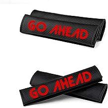8X-SPEED para Leon Almohadillas para Cinturón de Seguridad de Fbra de Carbono Cubierta de