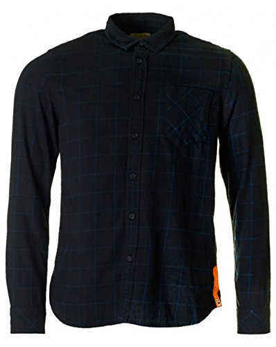 nudie-jeans-henry-flannel-checked-shirt-medium-black