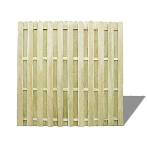 Lingjiushopping Panneau de clôture en bois de pin imprégnée 180 x 180 cm matériau : bois de pin vert imprégnée (résistant à la putrefacci š ® n) F š ¢ Cil Support avec les accessoires inclus