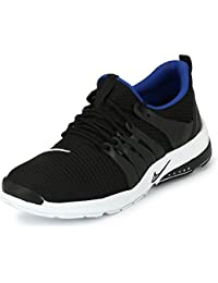 Fucasso Men's Smart Fit Black Sticker Sports Shoes