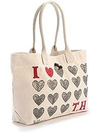 TOMMY HILFIGER - Bolso, Heart Th Shopper, Niña, Color: Crudo, Talla: U