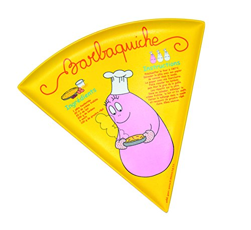 Barbapapa Assiette Barba-Quiche Jaune