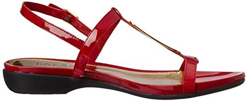 Lauren Ralph Lauren Kat Cuir verni Sandale Bright Red Patent