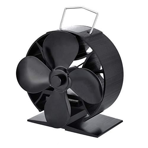 Ventilador de estufa con 4 aspas de tamaño mini para chimenea de...