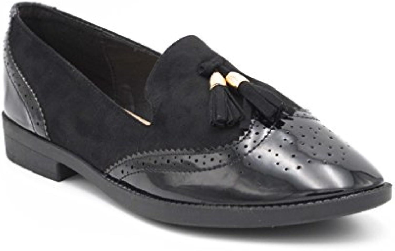 Oui Fashion   Damen Mokassin 2018 Letztes Modell  Mode Schuhe Billig Online-Verkauf