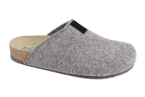Weeger Bio-Hausschuh-Pantoffel TWEED grau Gr. 36