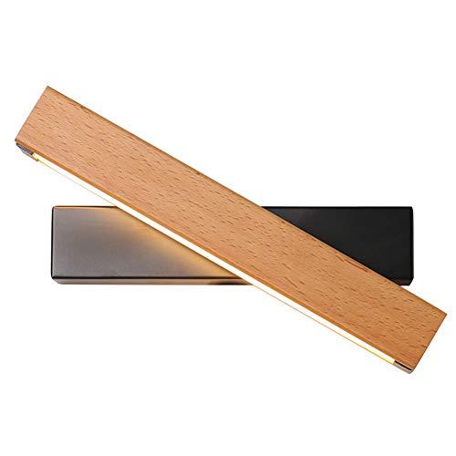SUNA LED Nordic applique murale simple salon chambre à coucher bande LED lumière chaude applique murale miroir avant (noir