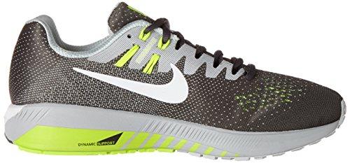 Nike Herren Air Zoom Structure 20 Laufschuhe Grau (Dk Grey/white/pure Platinum/volt/matte Silver/black)