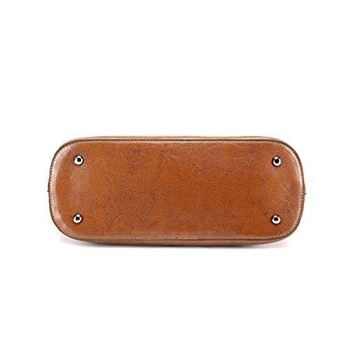 Damen Vintage Schultertasche Leder Cross Body Messenger Bags Für Frauen Handtaschen Reisen Mädchen Satchel Aktentasche Brown