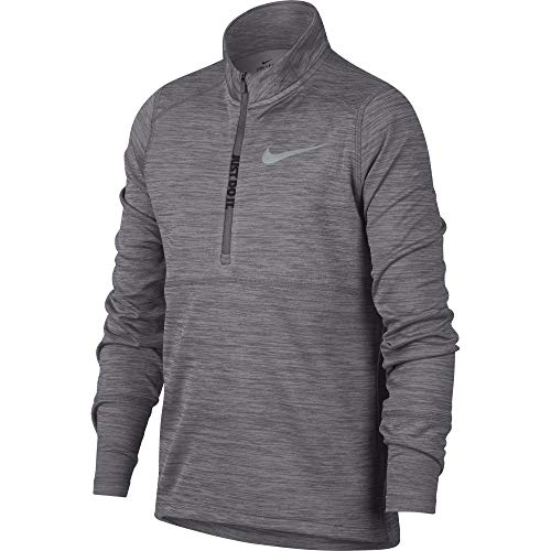 Nike Jungen Top Racer Half-Zip Longsleeve, Gunsmoke/Wolf Grey, S (Jungen Winter Nike Mäntel)