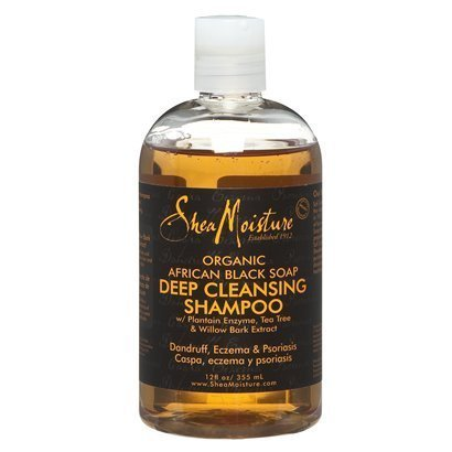 Shea Moisture African Black Soap Deep Cleansing Shampoo - 13 oz. by Shea Moisture African Black Soap Deep Cleansing Sh BEAUTY (English Manual)