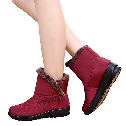 TianWlio Stiefel Frauen Herbst Winter Schuhe Stiefeletten Boots Spitze Schuhe Gekreuzt Quadratische Absatzstiefel Aus Leder