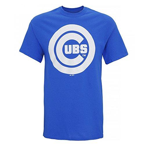 American Sports Merch Herren T-Shirt mit Chicago Cubs Logo, kurzärmlig Königsblau