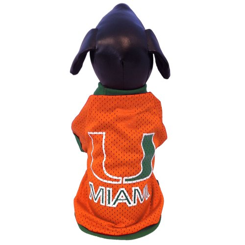 All Star Dogs NCAA Miami Hurricanes Athletic Mesh Dog Jersey, Herren, XX-Large