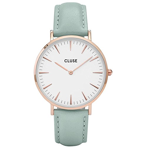 Cluse Damen-Armbanduhr Analog Quarz Leder CL18021