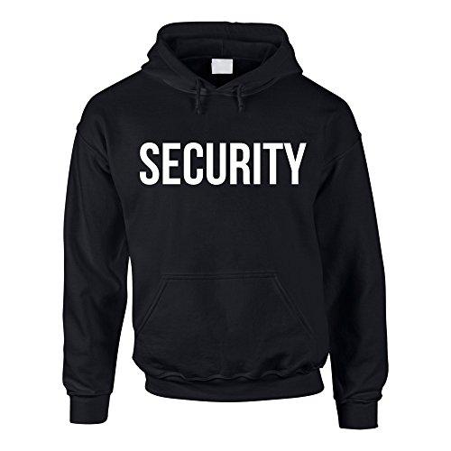 Shirtdepartment Hoodie Security Kapuzenpullover Sicherheitsdienst Pullover Sweater Kapuzenpullover, schwarz-weiss, XXL