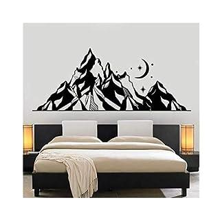 Berg, Stern und Mond, Home Art Deco Wandaufkleber