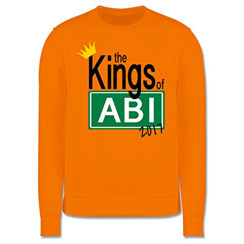 Abi & Abschluss - The Kings of Abi 2017 - Herren Premium Pullover Orange