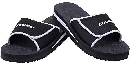 Cressi Unisex- Erwachsene Shoes Panarea Slipper für Strand und Schwimmbad, Schwarz, 47 EU