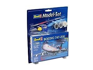 Revell Modellbausatz 64210  - Boeing 747-200 Modelo de grupo en 1:390 MaÃstab importado de Alemania