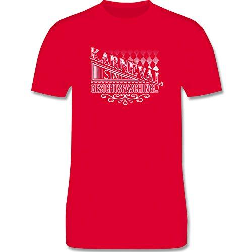 Karneval & Fasching - Karneval statt Gesichtsfasching - Herren Premium T-Shirt Rot
