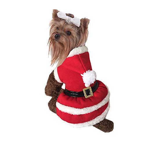 Yzibei Pullover Hund Santa Dog Kostüm Weihnachten Pet Kleidung Winter Hoodie Mantel Kleidung für Hund Haustier Kleidung Chihuahua Yorkshire Pudel Kleidung für Hunde (Größe : ()