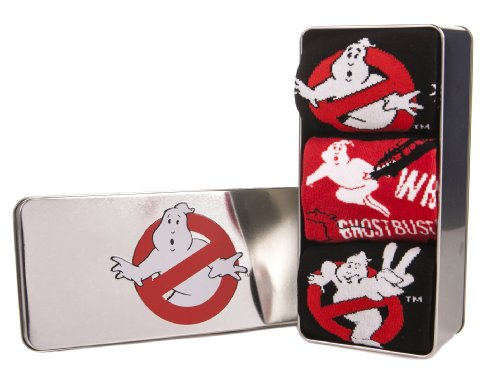 Pack Of 3 Ghostbuster Socks In a Gift Tin - Size 7 to 11 UK