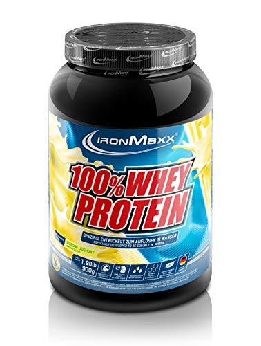 IronMaxx 100% Whey Protein - Whey Eiweißshake auf Wasserbasis - Proteinpulver mit Lemon-Joghurt Geschmack - 1 x 900 g Dose