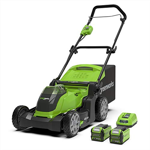 Greenworks Tools 2504707UC Cortacésped Inalámbrico, 40 V, Verde