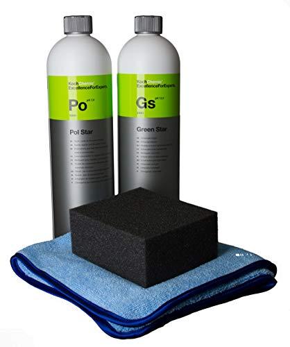Koch Chemie Pol Star Textilreiniger 1L, Textil-, Leder & Alcantarareiniger + Green STAR Universalreiniger 1000ml