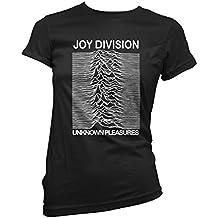 LaMAGLIERIA Camiseta Mujer Joy Division - Camiseta Rock 100% Algodon