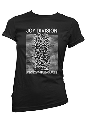 LaMAGLIERIA Camiseta Mujer Joy Division - Camiseta Rock 100% Algodon, S, Negro