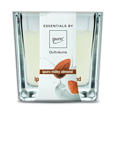 ipuro ESSENTIALS Duftkerze milky almond, 1er Pack (1 x 170 g) -