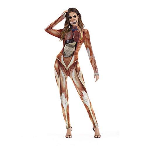 Chrri#sexy costume halloween per donna, costume party cos tuta manica lunga halloween decorazione natalizia gioco di ruolo per adulti,d,m