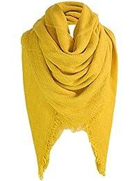 f2e40a9a96a4a MRULIC Echarpes foulards femme Grande Taille Femme Homme Echarpe Hiver Chaud  en Cachemire Imitation Carreaux Doux écharpe épais…