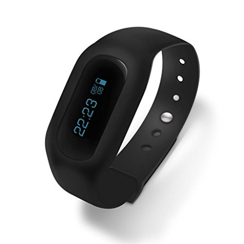 C bay Black Sleep Health Management Wearable Device Sports Pedometer Smart Bracelet Fitness Band Watch #C20011